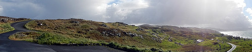 Panorama from our Wild Atlantic Way drive on the Inishowen Peninsula in Ireland