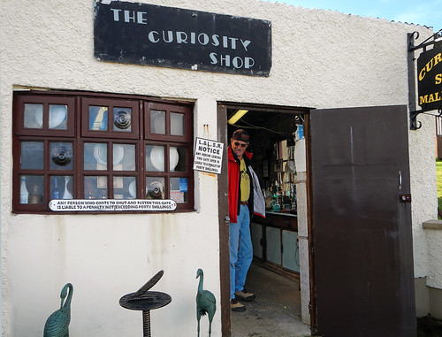 A variety of eclectic goods at the Curiosity Shop on the Inishowen Peninsula in Ireland
