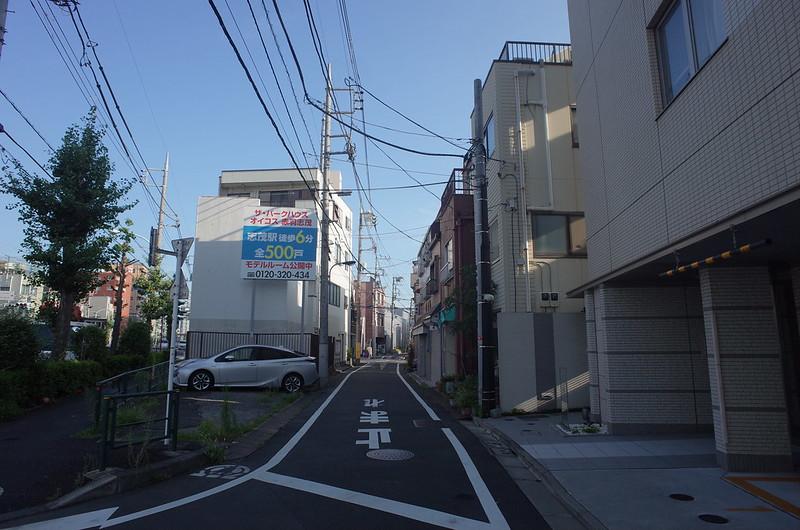 RICOH GRⅡ+ワイドコンバージョンレンズ21mm偽 東京いい道 志茂銀座 志茂旧道スタート地点