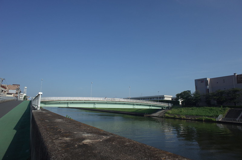 RICOH GRⅡ+ワイドコンバージョンレンズ21mm偽 東京いい道 志茂銀座 新河岸川新志茂橋