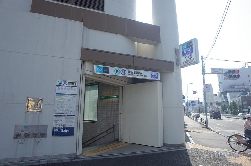 RICOH GRⅡ+ワイドコンバージョンレンズ21mm偽 東京いい道 志茂銀座 北本通り赤羽岩淵駅