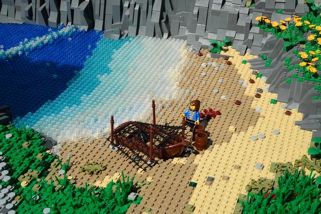 LEGO Castle shoreline