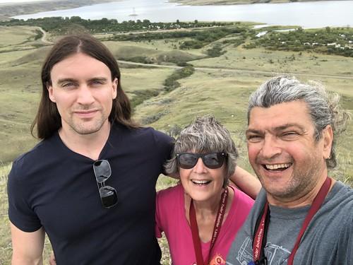 Saskatchewan Landing - coolie selfie