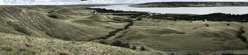 Saskatchewan Landing - coolie panorama