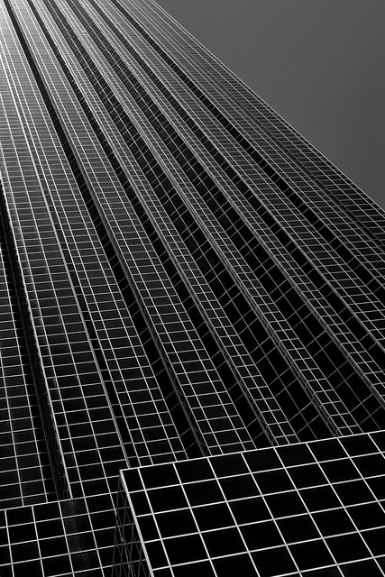 Looking Up at the Williams Tower (infrared)