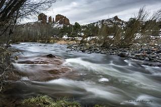 Oak Creek and Cathedral Rock in Sedona Arizona