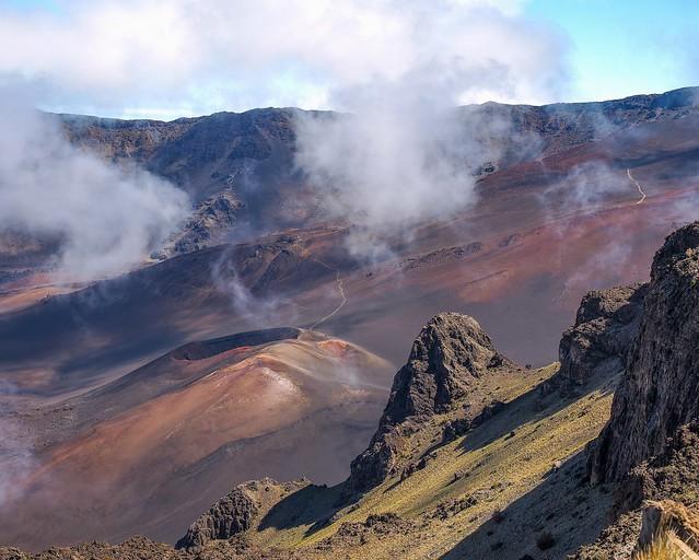 Another world:  inside Haleakala volcano