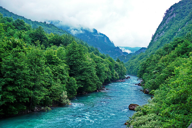 Tara river, Border between Bosnia and Montenegro