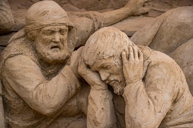 Sandskulptur von Leoardo Ugolini in Warnemünde 4544