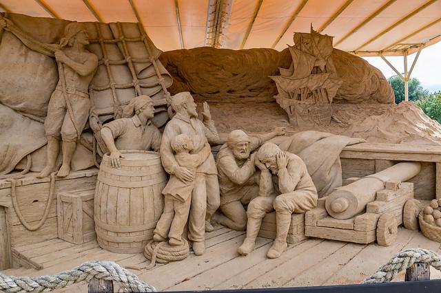 Sandskulptur von Leoardo Ugolini in Warnemünde 4543