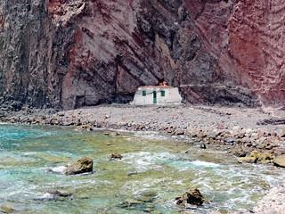 Espagne, l'île de la Grande Canarie, maison de la plage de la Roquete