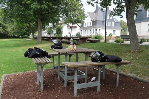 Unser Picknicktisch in Bad Berleburg