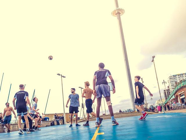 basketball beach court brighton street photography by feej13