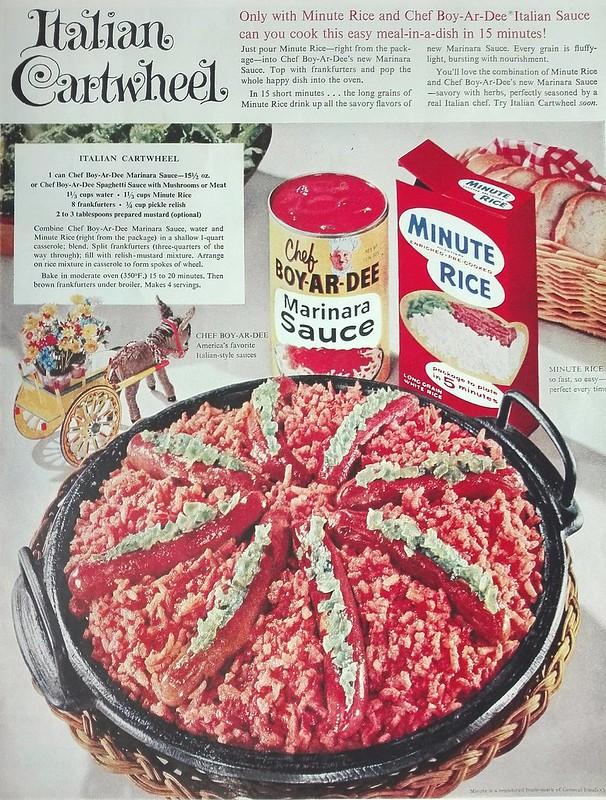 Chef Boy-Ar-Dee, Minute Rice 1959