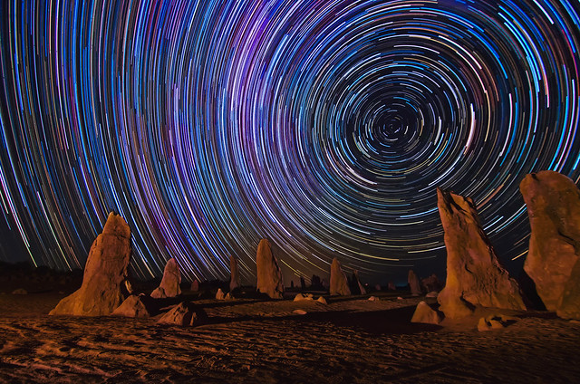 Star Trails at The Pinnacles Desert, Western Australia