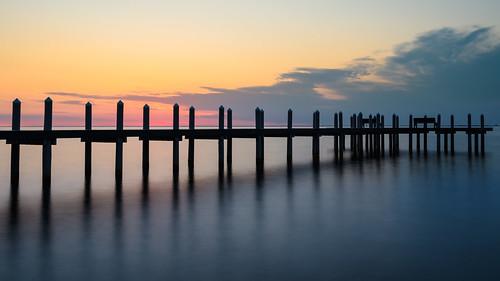 barnegatbay waretownnj newjersey dock pier sunrise dawn