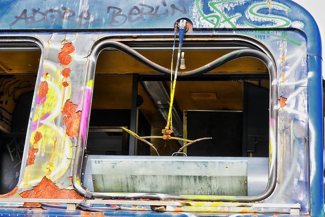 Broken window trein. No rain desired.