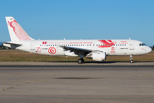 "Tunisair A320-214 TS-IMP ""carthage eagles"" 