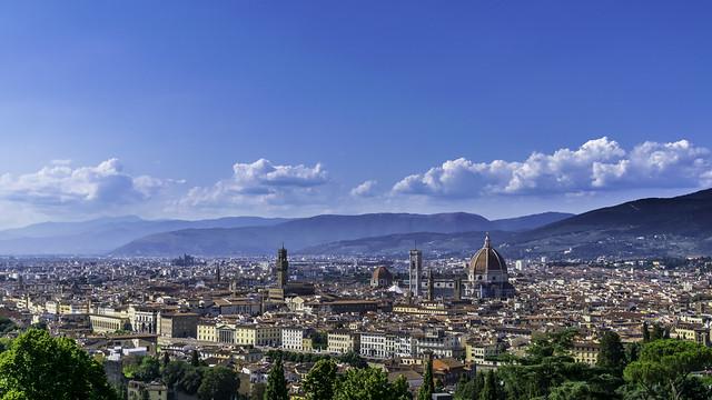 Florence vue du parvis de la basilique San Miniato al Monte.