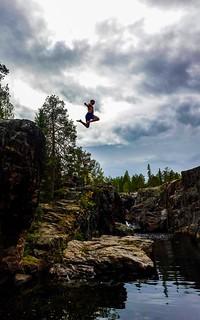 Dagens hopp, Storforsen Luleälven Norrbotten