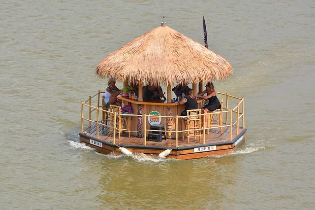 Floating Tiki Bar.  Pittsburgh, PA