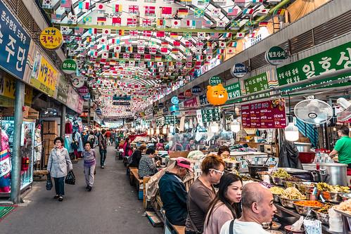 Feast on the food market. Seoul
