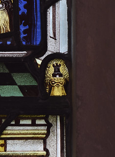 Droxford, Hampshire, St. Mary & All Saints, south aisle, west window, detail