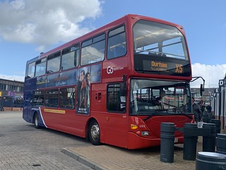 Go North East Scania Omnidecker 6169 seen here in Consett Bus station whilst waiting to preform the X5 back to Durham