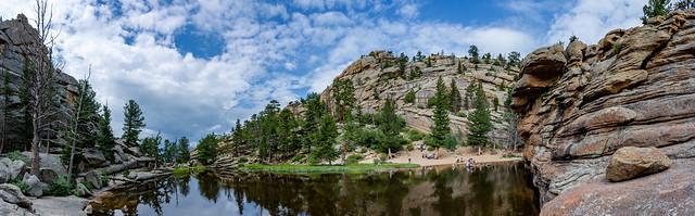 panoramic view of Gem Lake
