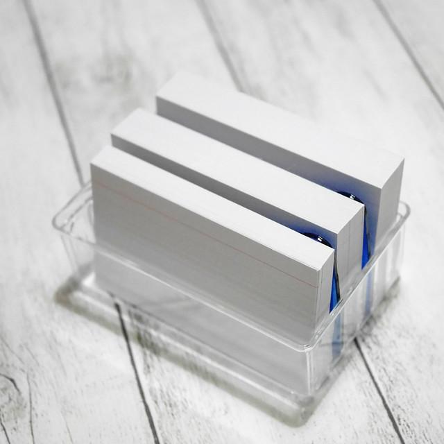 ダイソー インデックスカードミニ すっきりカードケース 情報カード