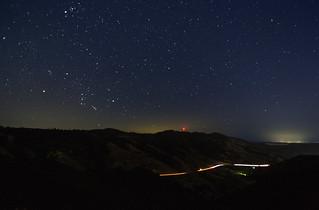 Night Sky & Highway Traffic