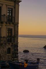 Barca e tramonto