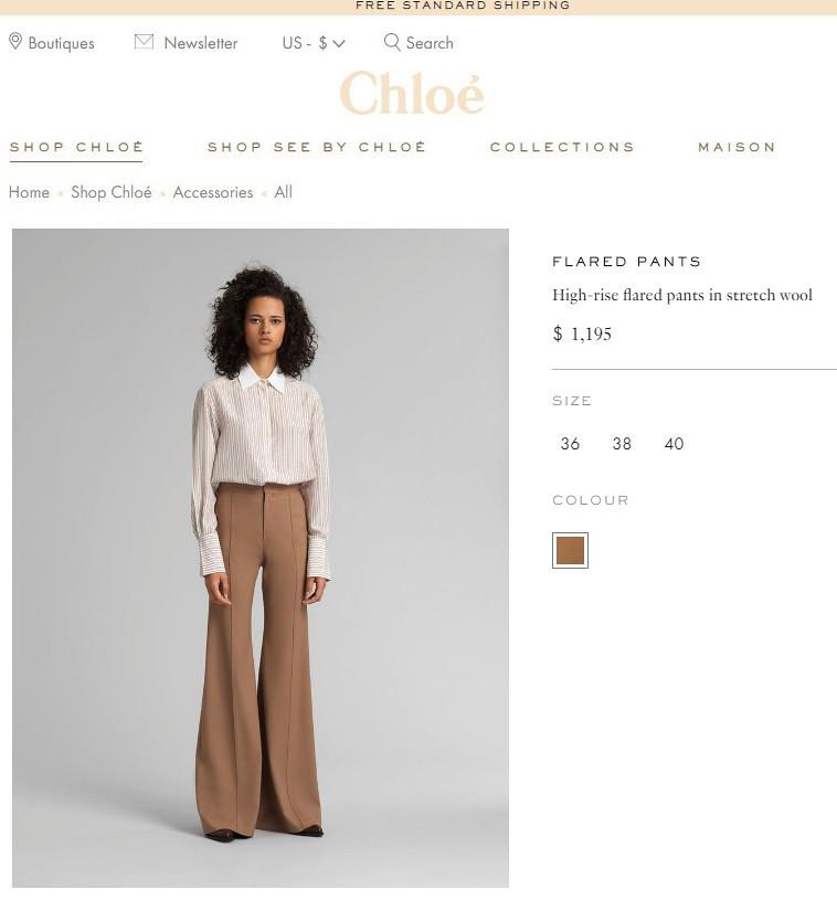 Высокие брюки-клеш Chloe