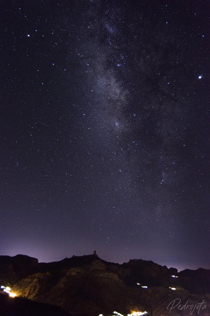 Roque Nublo y Vía Láctea