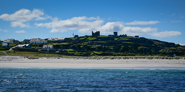 The Beach and Castle Hill on Inisheer Aran Islands Ireland