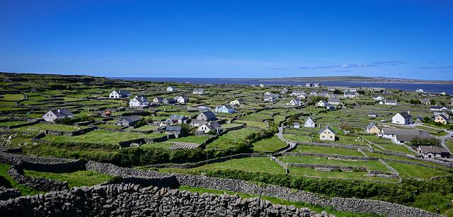 Panoramic view of Inisheer Aran Islands Ireland