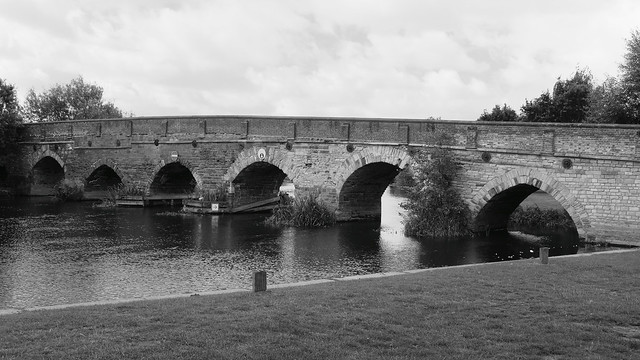 Bridge Acress the Great Ouse River at Great Barford