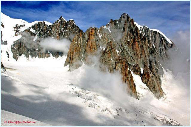le long du Mont Maudit  vue depuis les télécabines (2° partie)