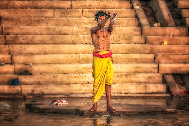 Morning rituals at the Ganges river #6