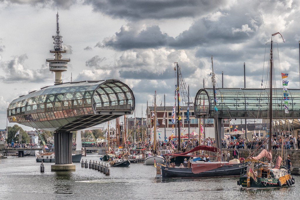 Sving bridge at the old harbor of Bremerhaven