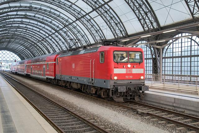 DB 112 113 Dresden Hbf