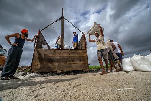 A Salt worker working in Salt Pans