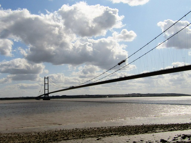 The Humber Bridge From The Hessle Foreshore.