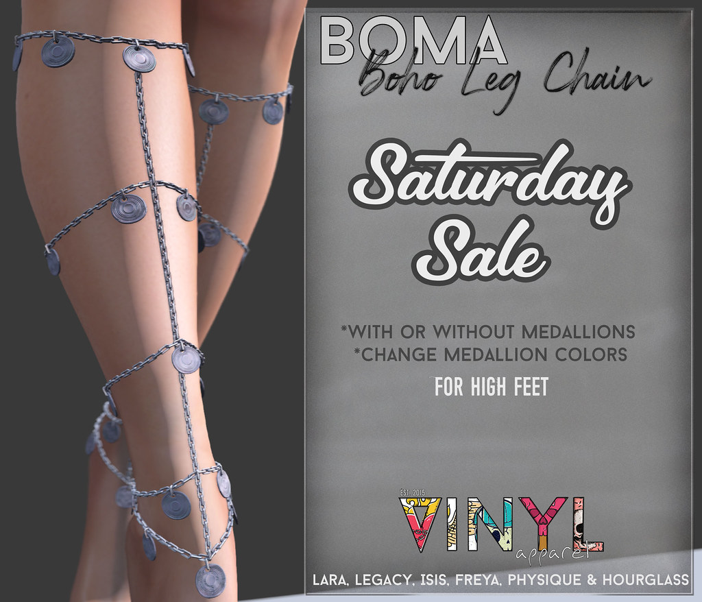 VINYL - Saturday Sale Boma Leg Chains - TeleportHub.com Live!