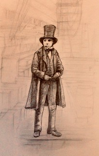 Sketch of Isambard Kingdom Brunel, after reading about his Great Eastern Ship.
