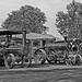 Lineup of steam traction engines