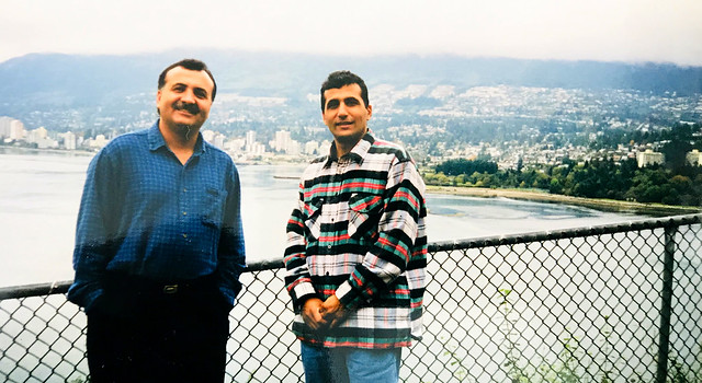 With brother David Vancouver Circa 1998