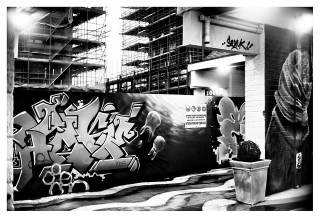 Street art against urban development