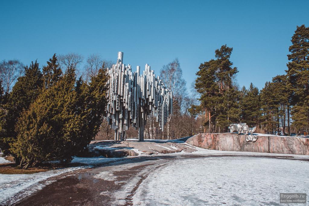 хельсинки памятник сибелиусу фото
