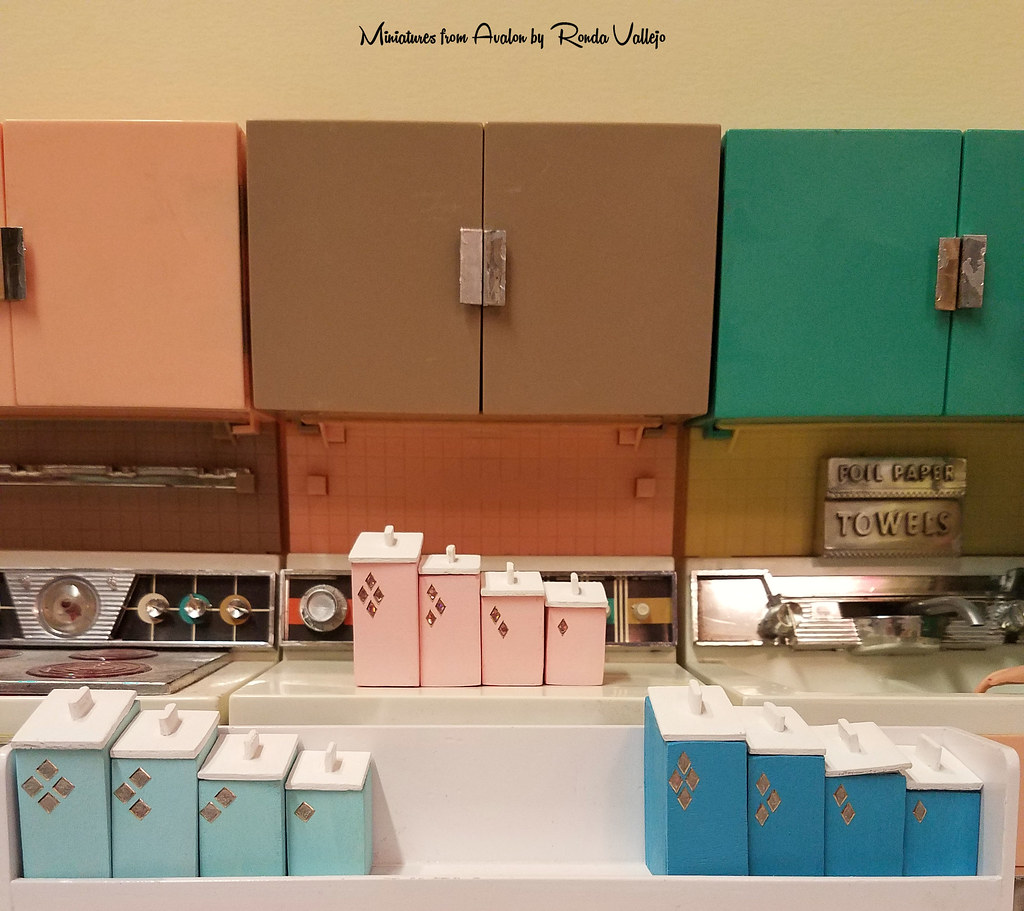 1:6th Scale Mid-Century Modern Kitchen Canisters | I have lo ...